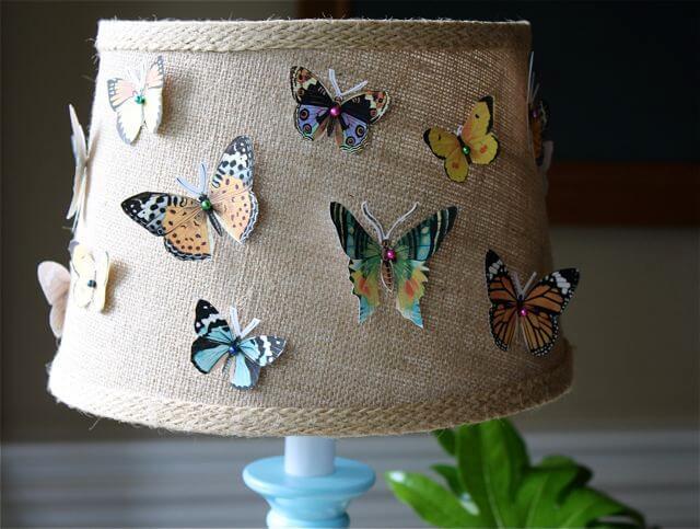DIY Butterflies Lampshade