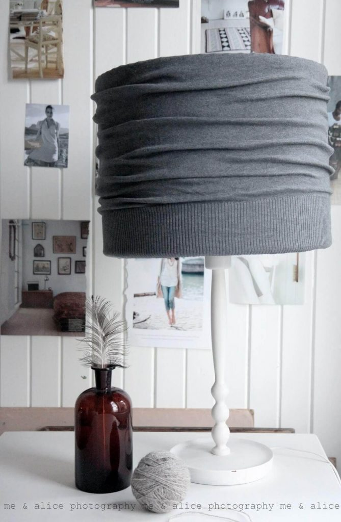 DIY Cardigan Lamp Shade