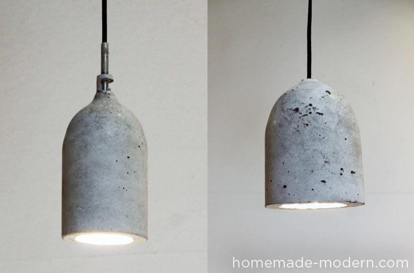 DIY Concrete Cast Lamp Shade
