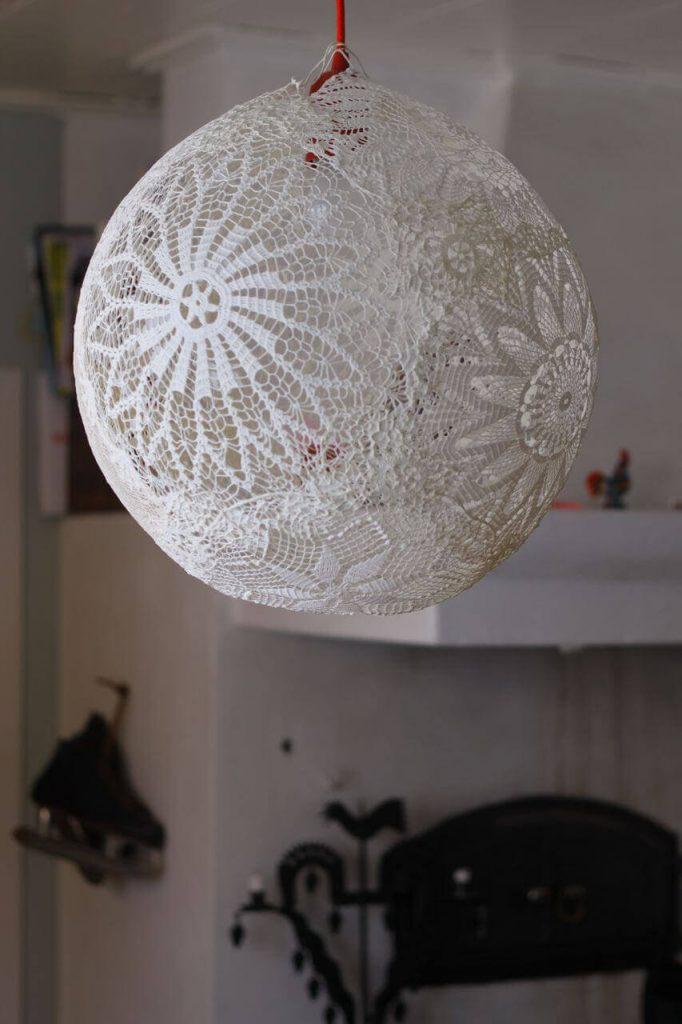 DIY Lace Lampshade