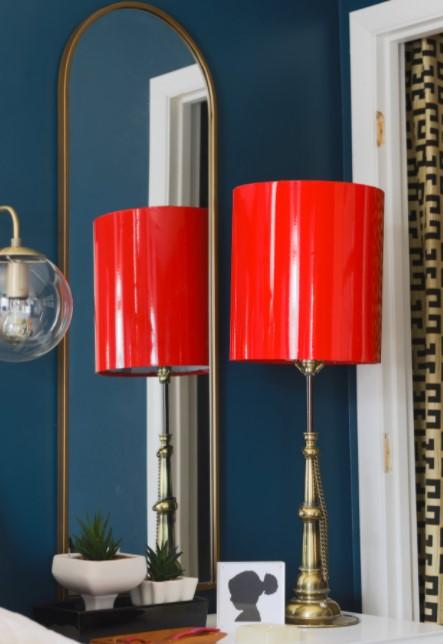 DIY Lacquered Lamp Shade
