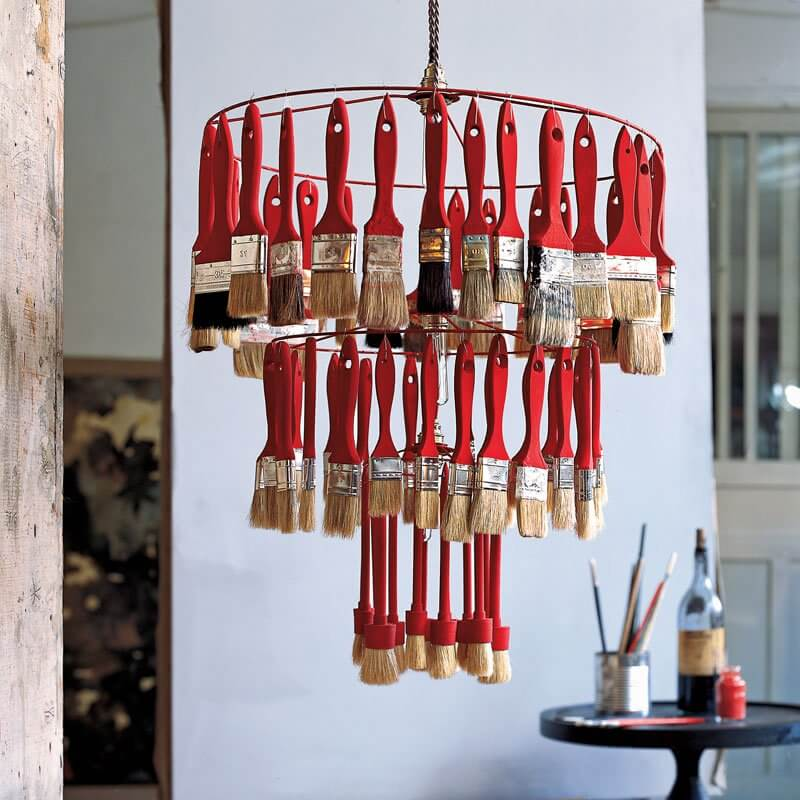 DIY Lamp Shade from Old Brush