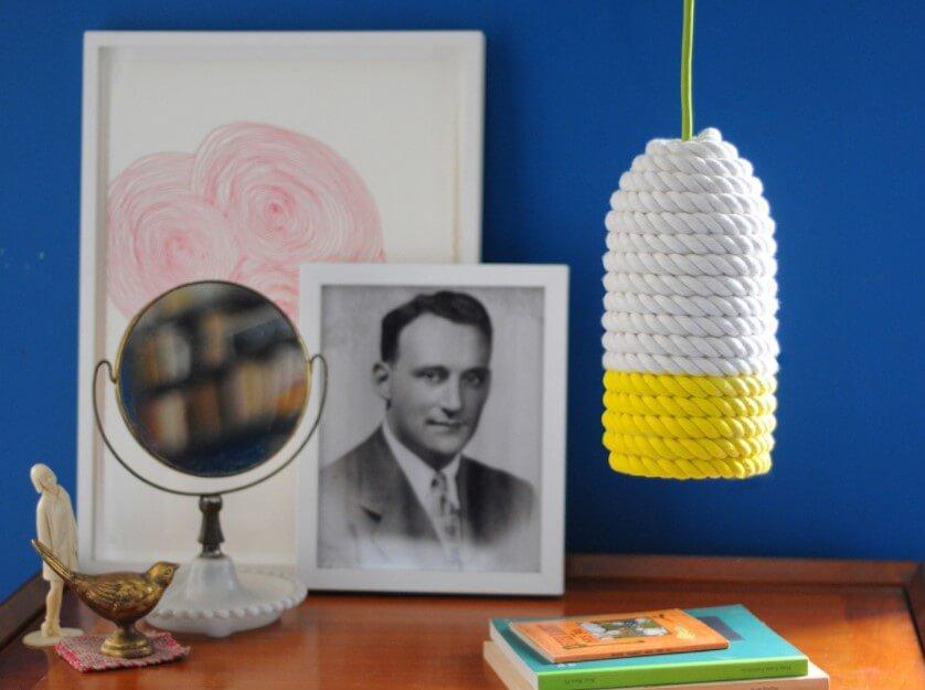 DIY Lamp Shade from Rope