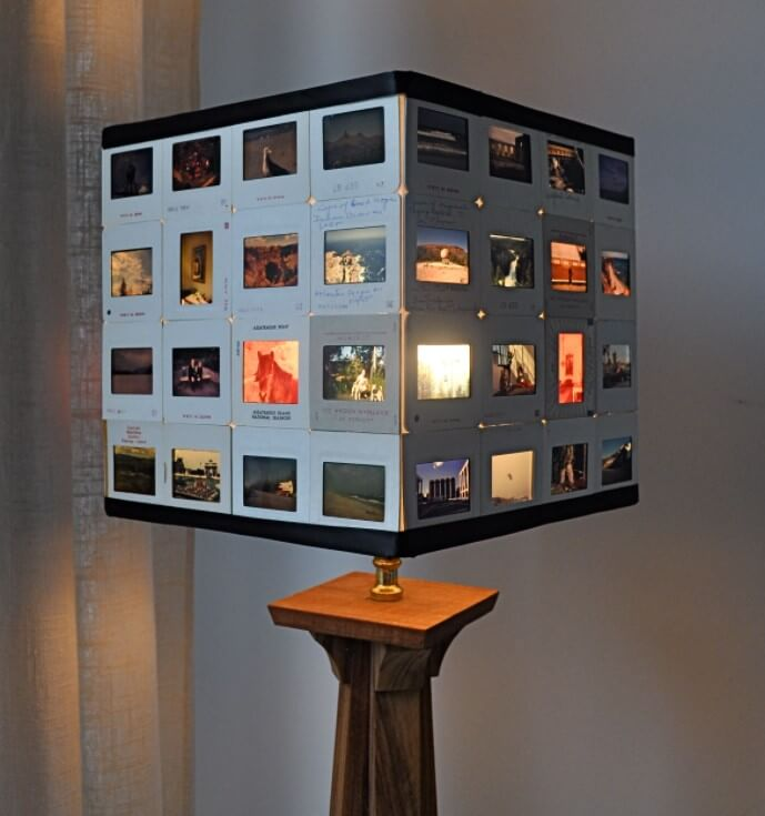 DIY Lamp Shade from Vintage Photo Slides
