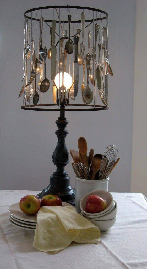 DIY Lampshade from Spoon Fork and Knife