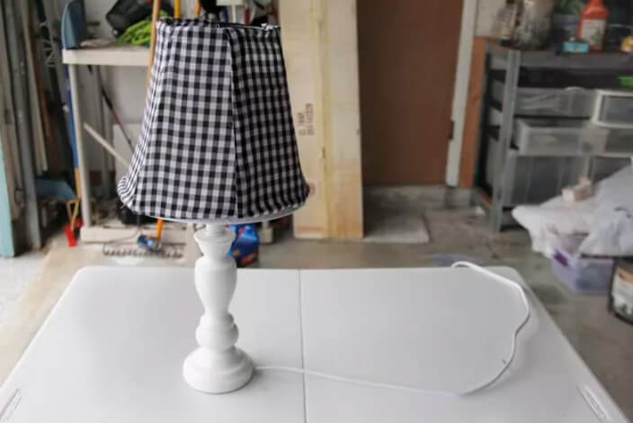DIY Lampshade from Wire Hangers