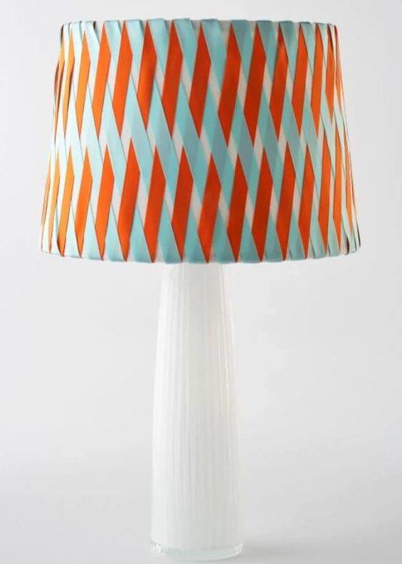 DIY Ribbon Crisscross Lampshade e1620020411397
