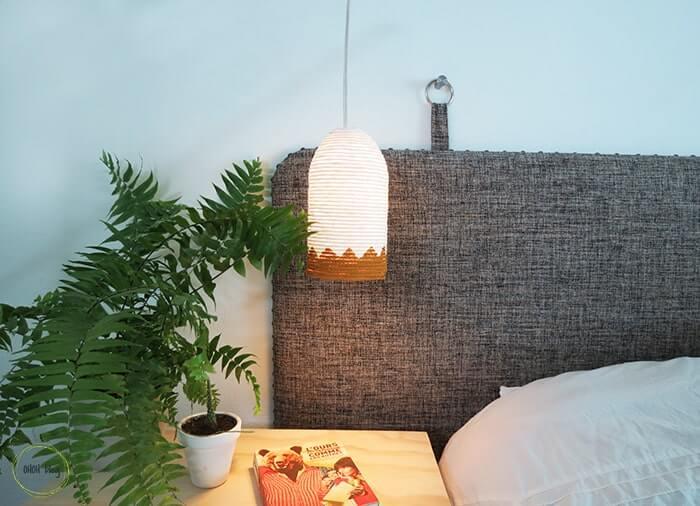 DIY Rope Lamp Shade