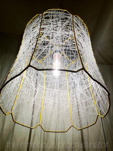 DIY Thread Lampshade