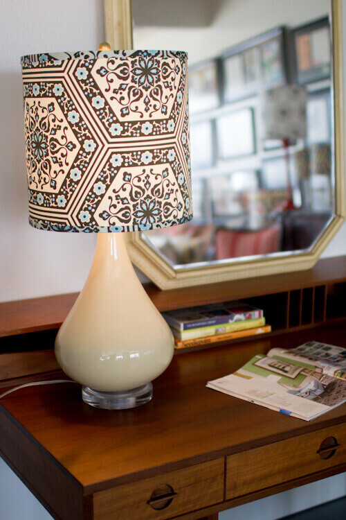 DIY Upholstered Lampshade