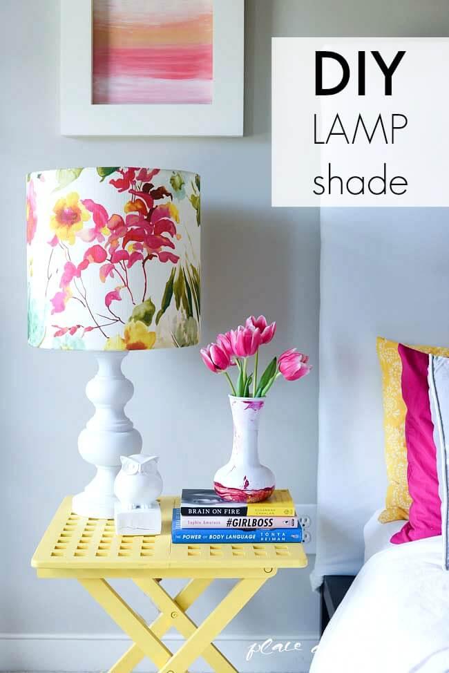 DIY Watercolor Lamp Shade
