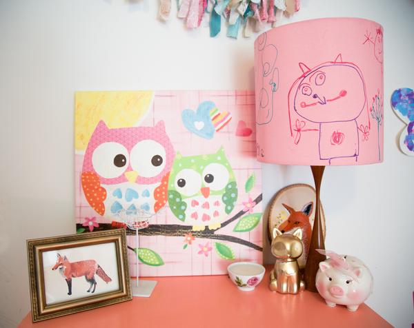 Turn Your Child Artwork into Lamp Shade