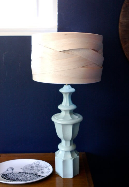DIY Balsa Wood Lamp Shade