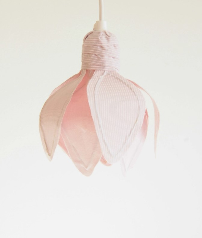 DIY Flower Lampshade from Fabric