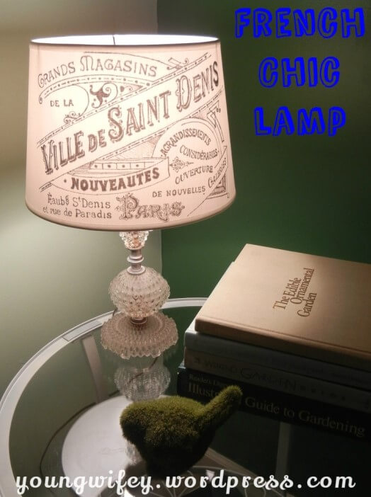 DIY French Chic Lamp Shade