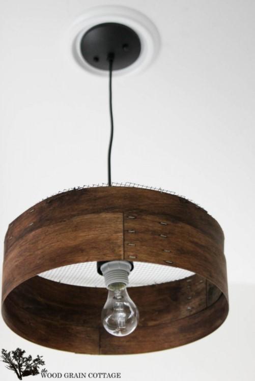 DIY Grain Sieve Lampshade