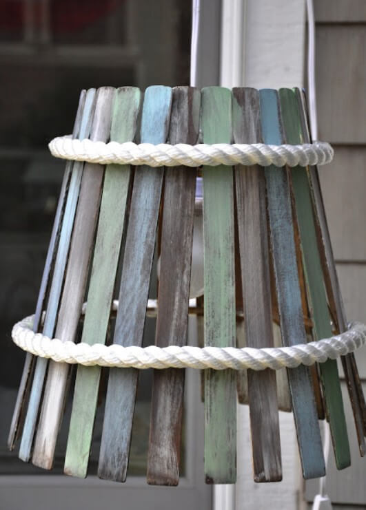 DIY Lampshade from Paint Stir