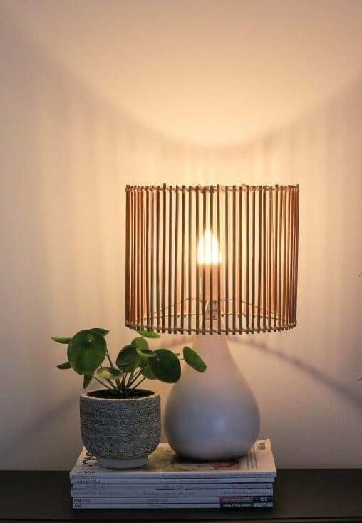 DIY Upcycled Rattan Lamp Shade