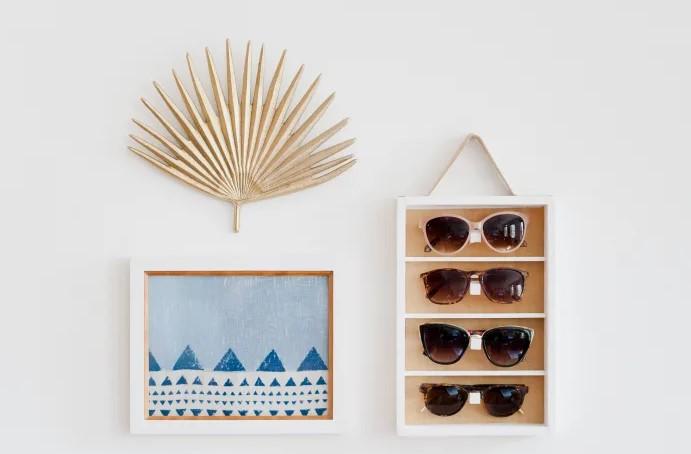 A DIY Display for Organizing Sunglasses