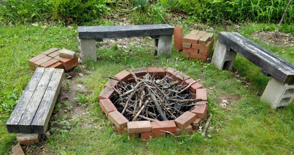 Backyard Fire Pit on Budget