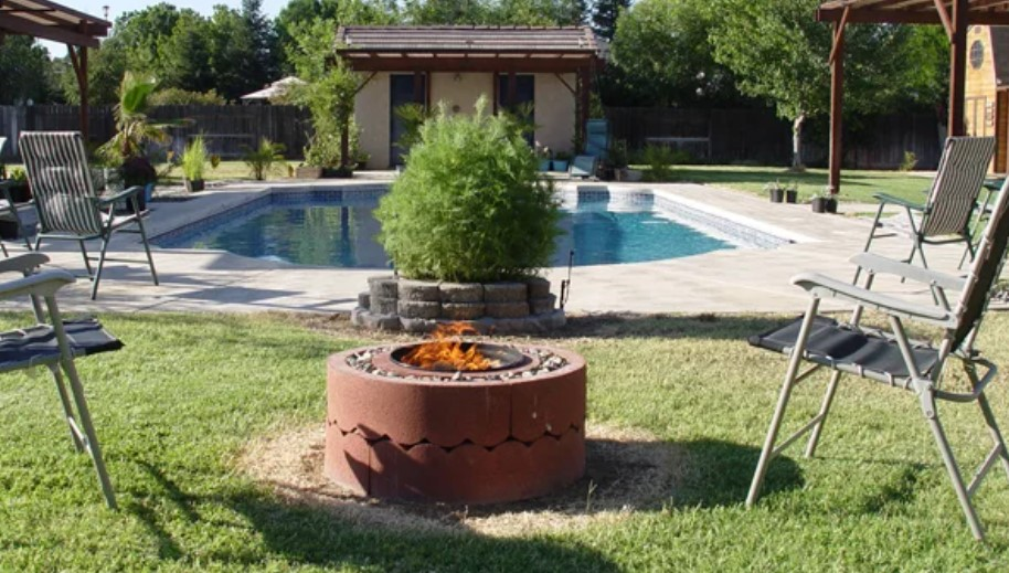 Concrete Tree Ring Fire Pit