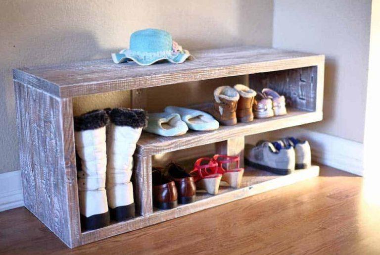 DIY Entryway Shoe Rack