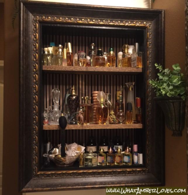 DIY Perfume Storage Display