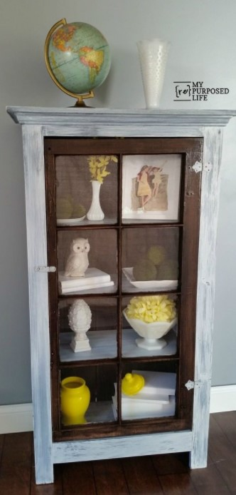 DIY TALL WINDOW CABINET DISPLAY CASE