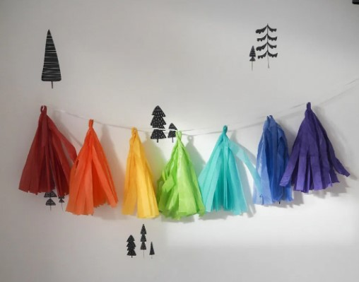 DIY Tassel Garland Tissue Paper