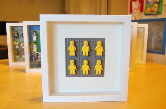 Easy DIY Lego minifigurine display case