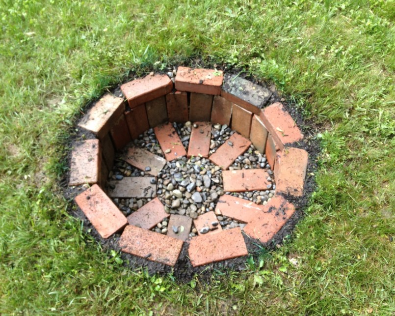 Old Brick Fire Pit