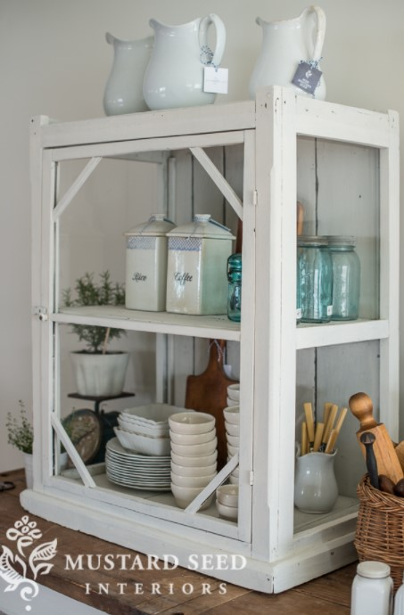 the antique display case makeover