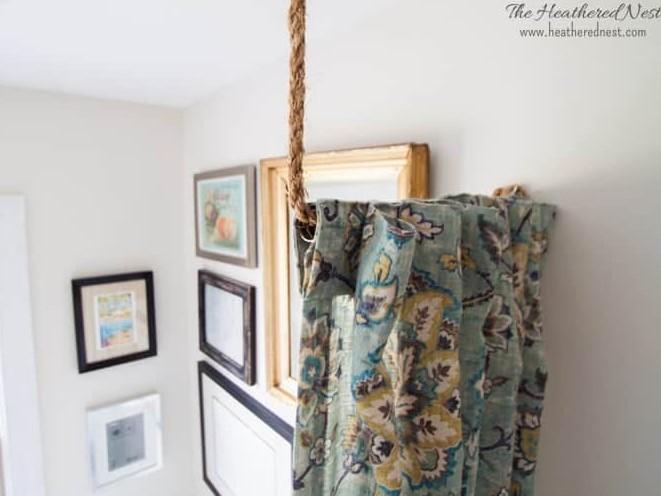 10 Minute DIY Curtain Rod