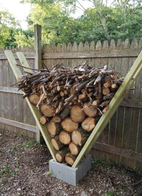 A Quick Hack to Building a Firewood V Rack