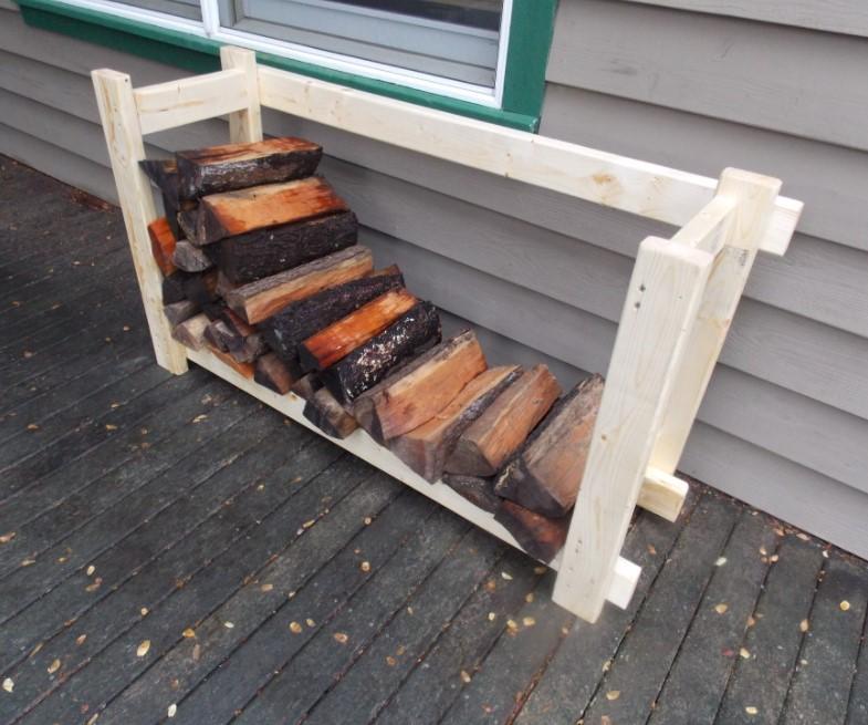 A Simple DIY Firewood Rack