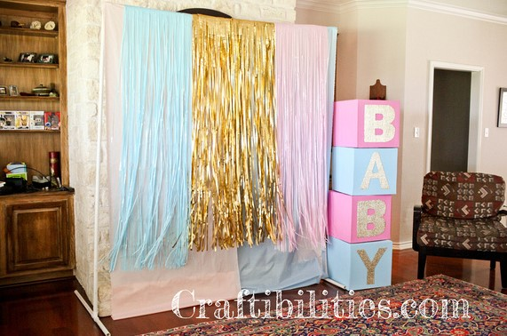 BABY SHOWER PARTY IDEAS DIY DECORATIONS LARGE DISPLAY PHOTO BACKDROP