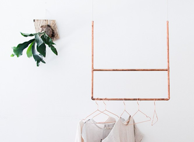 COPPER CLOTHING RACK