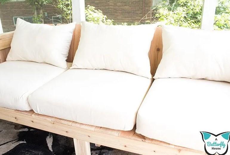 Cheap DIY Outdoor Cushions