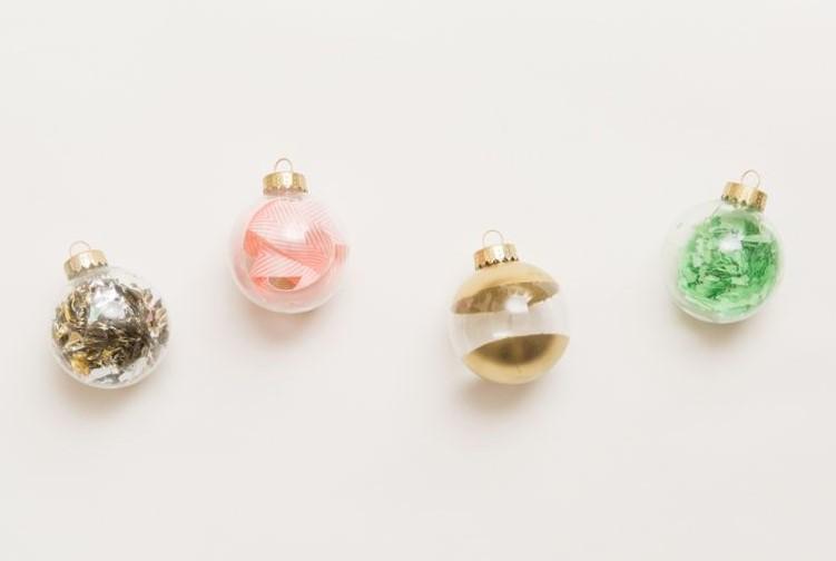 Confetti Filled Ornaments