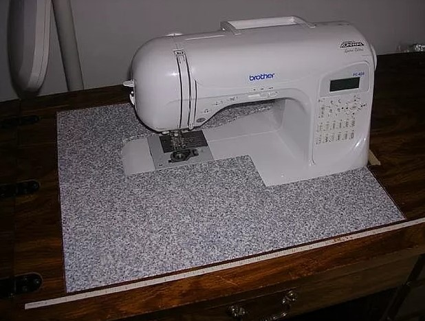Convert an Old Sewing Cabinet or Table to Hold a New Sewing Machine