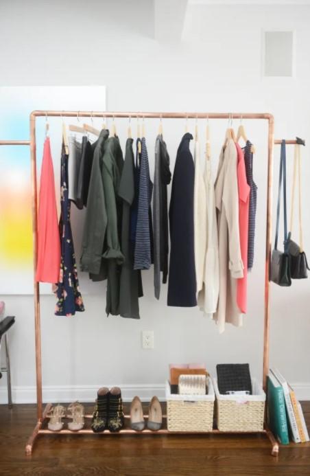 Copper Clothing Rack DIY