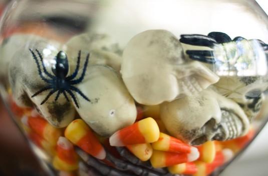 Creepy Candy Corn Jar