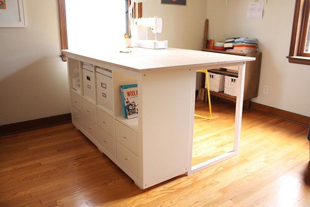 Custom DIY Sewing Cutting Table