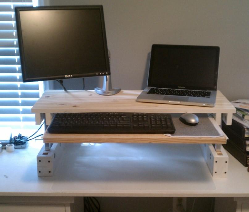 DIY Adjustable Standing Desk for under 25