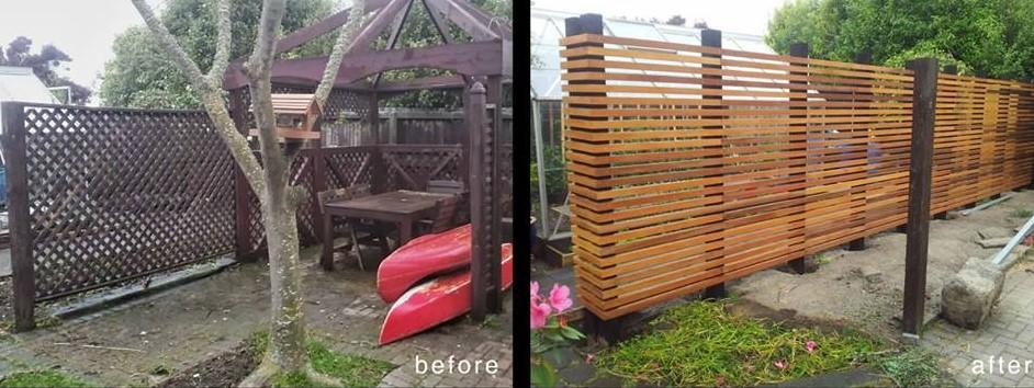 DIY Cedar Fence