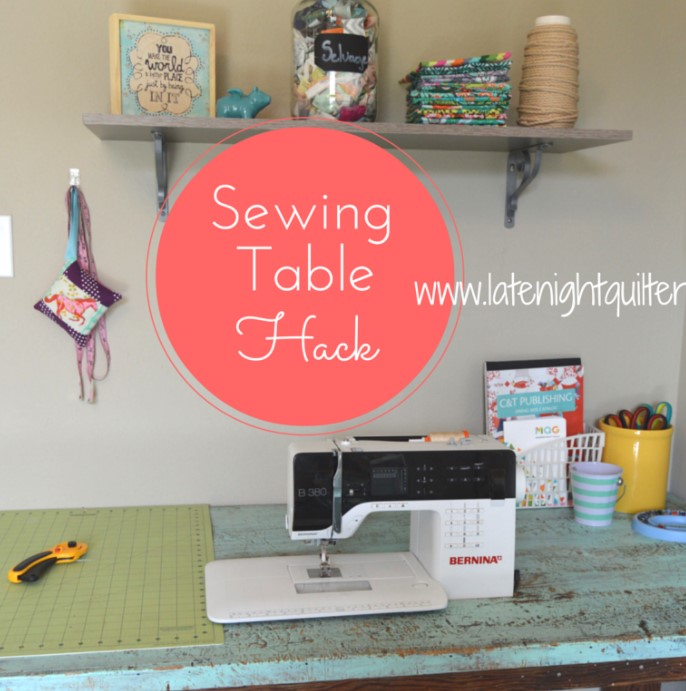 DIY Drop In Sewing Table Hack