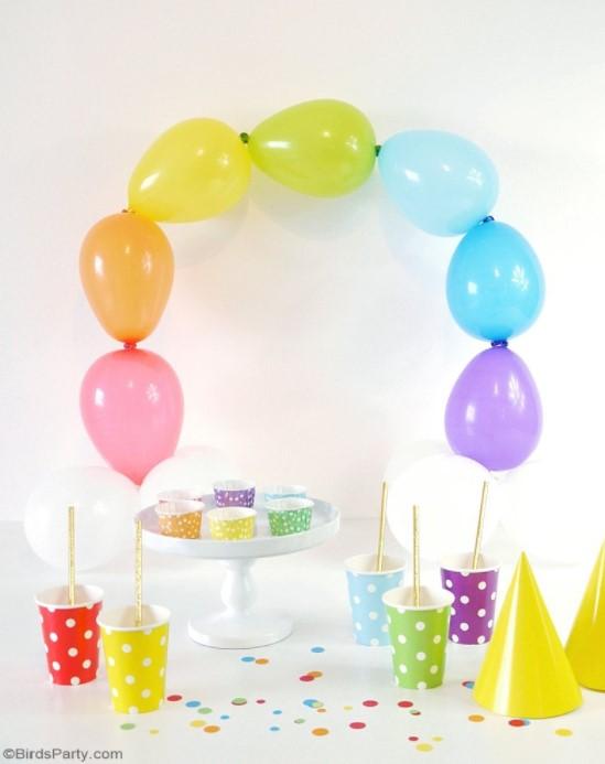 DIY Easy Rainbow Balloon Arch