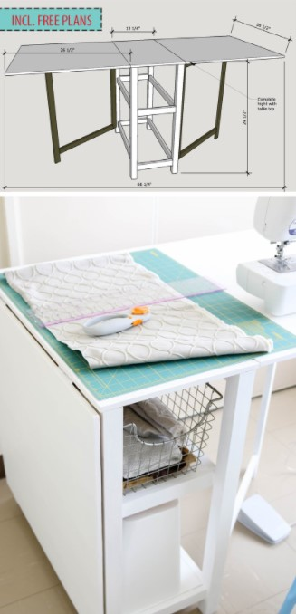DIY Foldable Craft Table 2