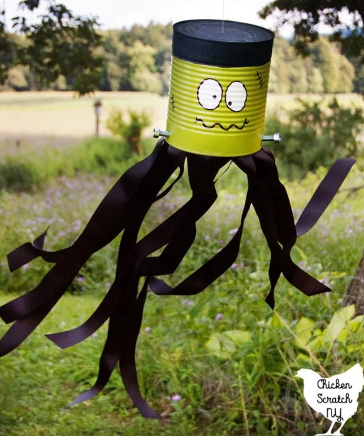 DIY Frankenstein Windsock for Halloween Decoration