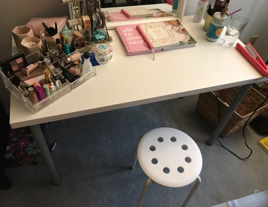 DIY IKEA Vanity for 50